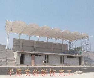 德州平原实验小学完工膜结构遮阳棚