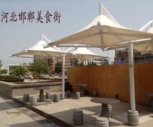 河北邯郸美食街膜结构遮阳棚