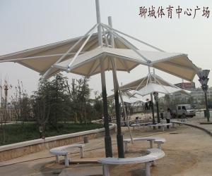 聊城体育中心广场膜结构景观
