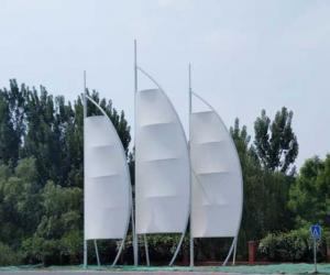遥墙风帆膜结构