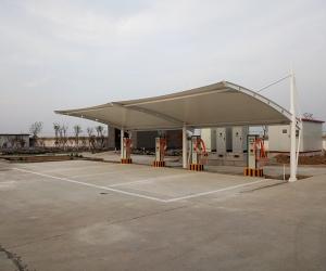 大广高速肃宁服务区膜结构车棚